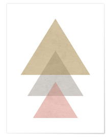 Premium poster pink triangle