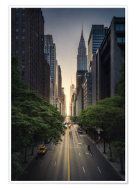 Premium poster New York City Sunset