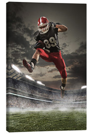 Canvas print  American Football Player in Action
