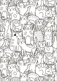 Colouring poster  Cat pattern - Kidz Collection