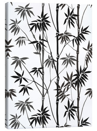 Canvas print  Bamboo black / white