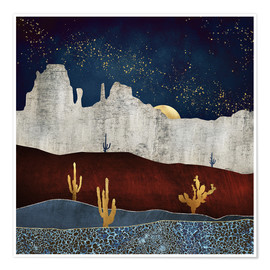 Premium poster  Moonlight desert - SpaceFrog Designs