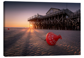 Canvas print  St. Peter Ording | Sunset at the sea - Kristian Goretzki