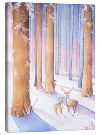 Canvas print  Little deer in the forest - Rebecca Richards