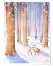 Premium poster  Little deer in the forest - Rebecca Richards