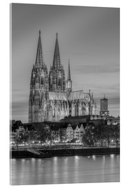 Acrylic print  Cologne Cathedral black-and-white - Michael Valjak