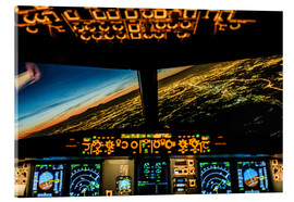 Acrylic print  Airbus A320 Landing in Moscow, Russia - Ulrich Beinert