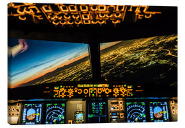 Canvas print  Airbus A320 Landing in Moscow, Russia - Ulrich Beinert