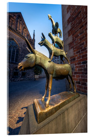 Acrylic print  The statue of the Bremen Town Musicians - Jan Christopher Becke