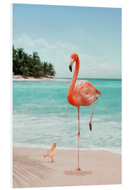 Foam board print  WANNABE FLAMINGO - Jonas Loose