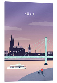 Acrylic print  Cologne Illustration - Katinka Reinke
