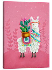 Canvas print  Illustration of a cute llama - Elena Schweitzer