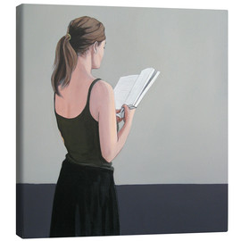 Canvas print  Girl reading - Karoline Kroiss