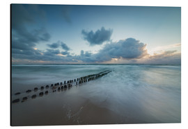 Aluminium print  Groyne in the evening on Sylt (long exposure) - Heiko Mundel