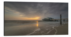 Aluminium print  54Brad beach bar in St.Peter-Ording - Heiko Mundel