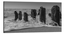 Aluminium print  Groyne with waves - Heiko Mundel