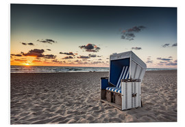 Foam board print  Beach chair on Sylt at sunset - Heiko Mundel