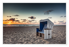 Premium poster  Beach chair on Sylt at sunset - Heiko Mundel