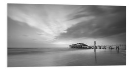 Foam board print  54Brad beach bar in St.Peter-Ording (long exposure) - Heiko Mundel