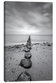 Canvas print  Groyne on Rügen (long exposure) - Heiko Mundel