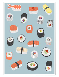 Premium poster  Sushi from Maki to Nagiri - Nic Squirrell