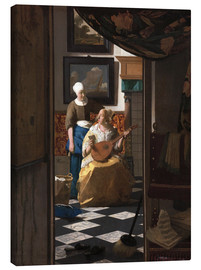 Canvas print  the love letter - Jan Vermeer
