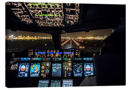 Canvas print  A380 Cockpit on the Runway - Ulrich Beinert