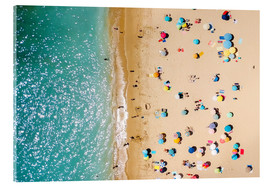 Acrylic print  Aerial View Of People on Summer Holiday - Radu Bercan