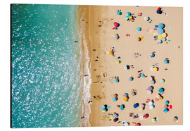 Aluminium print  Aerial View Of People on Summer Holiday - Radu Bercan