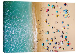 Canvas print  Aerial View Of People on Summer Holiday - Radu Bercan