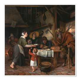 Premium poster The Satyr and the Peasant Family