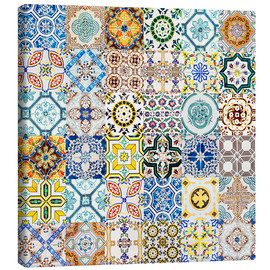 Canvas print  Azulejos ceramic wall in Lisbon - Radu Bercan