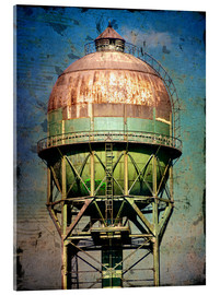 Acrylic print  water tower - Dieter Ziegenfeuter