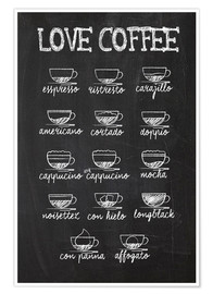 Premium poster  Coffee variants - Typobox