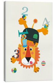Canvas print  Colourful counting lion - Jaysanstudio