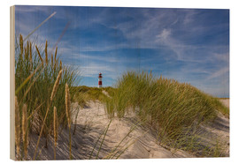 Wood print  Lighthouse List / East with dune - Heiko Mundel