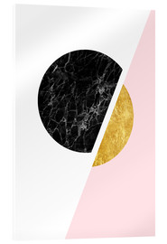 Acrylic print  Scandinavian composition with marble and gold - Radu Bercan