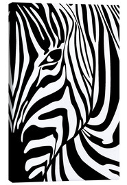 Canvas print  Black And White Zebra Portrait - Radu Bercan