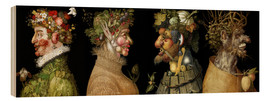 Wood print  The four seasons - Giuseppe Arcimboldo