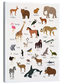 Canvas print  Favorite animals (German) - Kidz Collection