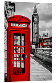 Acrylic print  London telephone box and Big Ben - Art Couture