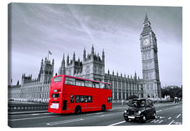 Canvas print  Red bus on Westminster Bridge, London - Art Couture