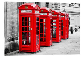 Acrylic print  London telephone box - Art Couture