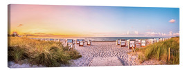 Canvas print  Sunset, Baltic Sea - Art Couture