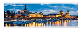 Premium poster  Dresden at night - Art Couture