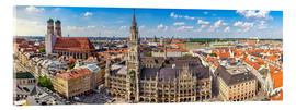 Acrylic print  Panorama of Munich - Art Couture