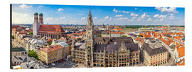 Aluminium print  Panorama of Munich - Art Couture