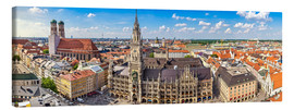 Canvas print  Panorama of Munich - Art Couture