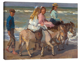 Canvas print  To ride a donkey - Isaac Israels