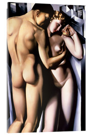 Acrylic print  Adam and Eve - Tamara de Lempicka